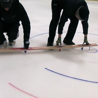 Arena Curling Ice Setup