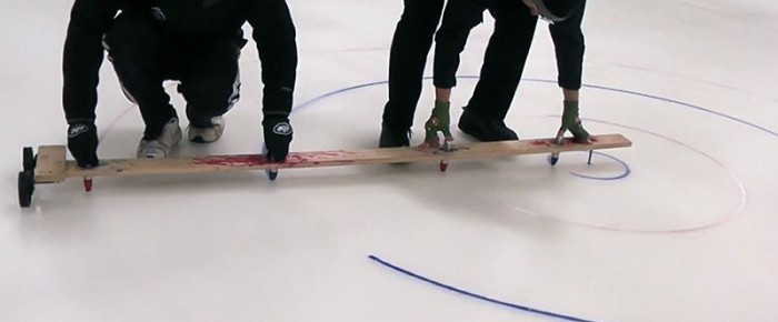 Arena Curling Ice Setup